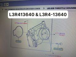 Bướm ga Escape 2.3, Mazda 3 / L3R413640 L3R4-13640 / họng hút