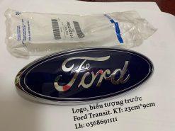 Biểu tượng, chữ Ford, Logo trước trên ca lăng, đầu xe Ford Transit