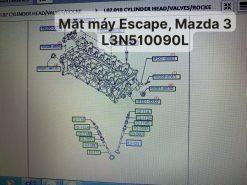 Mặt máy Escape 2.3 & Mazda 3 2009 / L3N510090L L3N5-10090-L