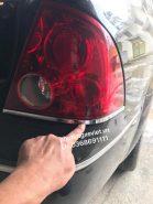 Nẹp mạ crom đèn hậu Ford Laser / 2B25D50145AA / 2B25D50135AA