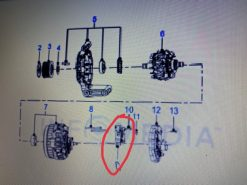 Tiết chế máy phát điện Ranger, Mazda BT / U20118W70 – AB3910316AA
